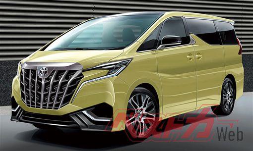 ▲Toyota Alphard大改款預想圖(圖/翻攝Best Car Web)
