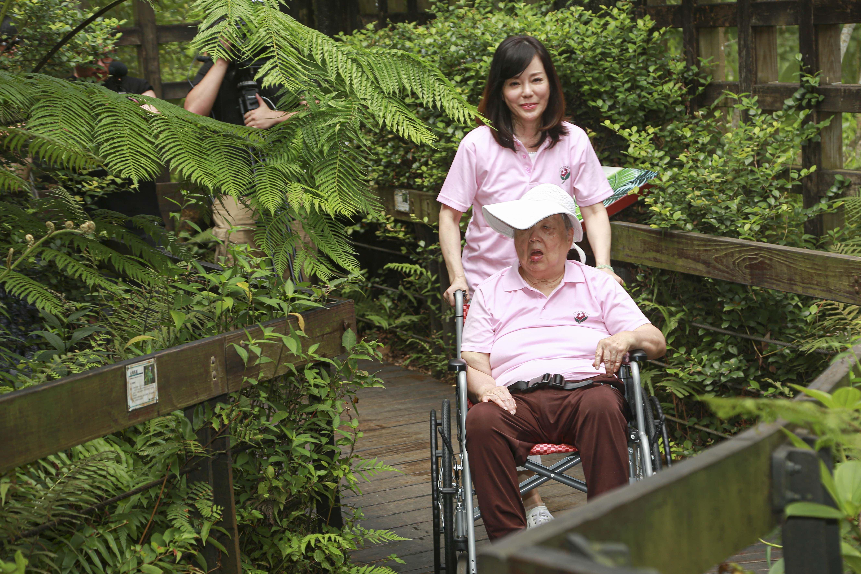 狄鶯於士林官邸出席公益影片拍攝。(記者林士傑/攝影)