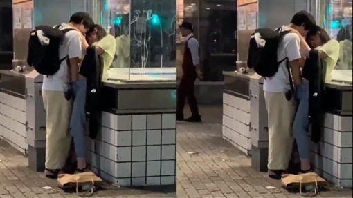 日本,街頭,情侶,親熱,手速