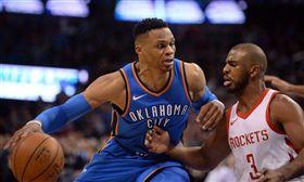 NBA/火箭龜!威少、保羅互換東家 NBA,奧克拉荷馬雷霆,Russell Westbrook,休士頓火箭,Chris Paul 翻攝自推特