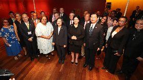 蔡總統與友邦駐聯合國常任代表會面(2