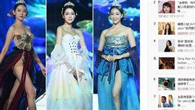 「2019韓國小姐選美大賽」改造韓服太暴露。(圖/翻攝自TV Daily)