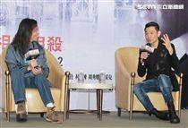 劉德華、導演邱禮濤來台宣傳電影「掃毒2 天地對決」記者會。(記者邱榮吉/攝影)