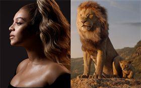 《獅子王》樂壇天后碧昂絲、才子唐納葛洛佛夢幻合唱。迪士尼提供