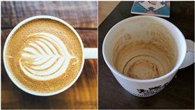 泡完咖啡或是茶的杯子若是沒有馬上清洗,經常會染上一層污漬在杯內,不少民眾對於杯子的髒污感到煩惱,但卻有網友表示杯子上那層看起來黑黑髒髒的污漬是他「養」的,因為就像喝茶會養茶壺一樣,他也養出了屬於自己獨一無二的咖啡杯,還PO上網向大家分享,不過網友們看完不但不認同,反倒覺得這種杯子「超噁心」,認為原PO只是在替自己的懶惰找藉口。(圖/翻攝自爆廢公社)