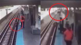 (圖/翻攝自WGN News YouTube)美國,芝加哥,列車,手機,鐵軌