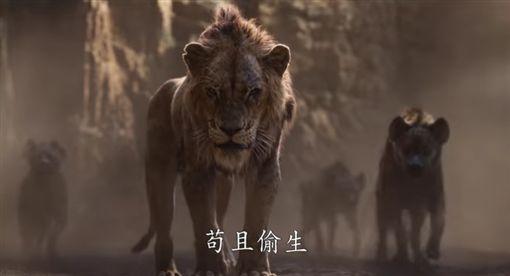 迪士尼影業+翻攝獅子王預告