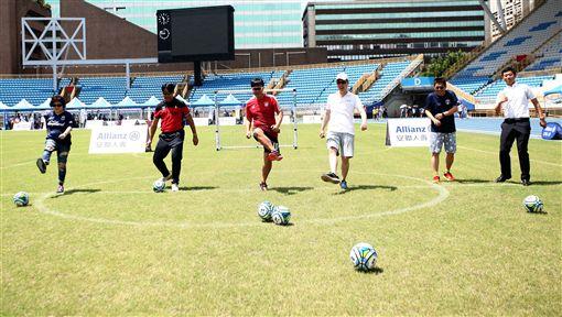 ▲安聯小小世界盃讓小朋友在足球上更有夢想。(圖/大會提供)