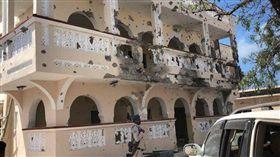 (圖/翻攝自推特)索馬利亞,汽車,炸彈,飯店
