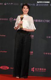 2019台北電影節頒獎典禮最佳女配角黃嘉千。(記者邱榮吉/攝影)