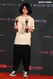 2019台北電影節頒獎典百萬首獎去年火車經過的時候導演黃邦銓。(記者邱榮吉/攝影)