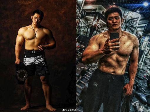 MMA重量級冠軍吳紫龍,也隔海向「館長」下戰帖。(圖/翻攝自吳紫龍微博)