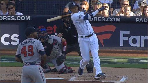 ▲馬查多(Manny Machado)2場敲3轟,教士都輸。(圖/翻攝自MLB官網)