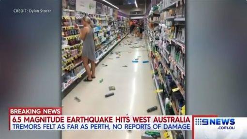 澳洲地震(圖/翻攝自推特)