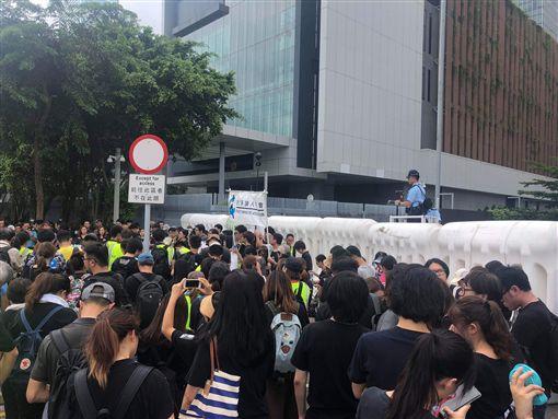 反送中/千人力挺!香港7傳媒團體遊行「捍衛新聞自由」(圖/網友提供)