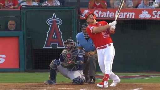 ▲楚奧特(Mike Trout)敲出本季第30號全壘打。(圖/翻攝自MLB官網)