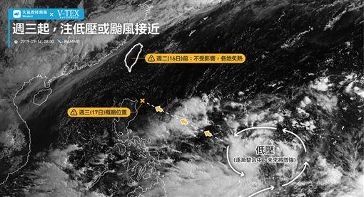 天氣,氣象(圖/翻攝自天氣即時預報臉書粉絲專頁)