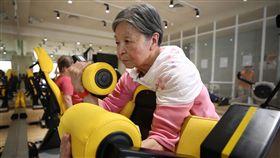 熟齡健身房 帶領銀髮族找回健康(3)以熟齡者為主要族群的Sunvis陽光活力中心,進口智慧型重訓器材,由醫師、物理治療師、職能治療師擔任教練,根據運動者能力範圍設計運動強度,在安全與成效間找到平衡。中央社記者張新偉攝 108年5月25日