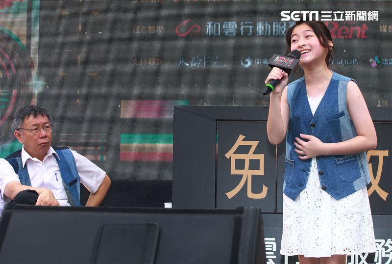 泰國音樂神童Gail演唱「曙光祭」宣傳曲。(記者邱榮吉/攝影)