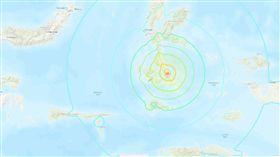 印尼,地震,摩鹿加群島,Moluccas (圖/翻攝自USGS)