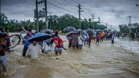 尼泊爾,洪災,豪雨(圖/翻攝自推特)