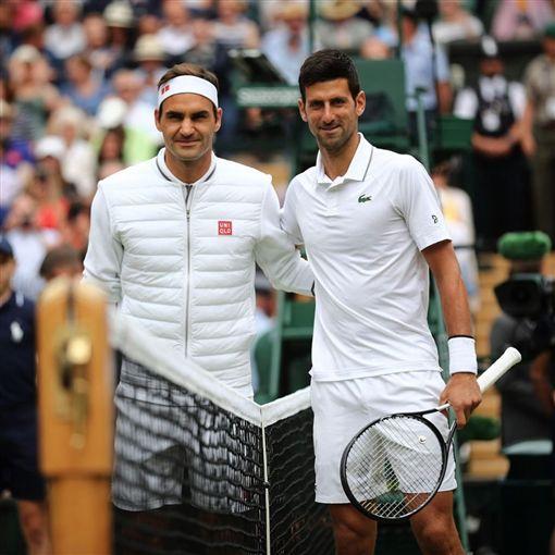 溫網/喬科維奇(Novak Djokovic)、費德勒(Roger Federer)/翻攝自wimbledon IG