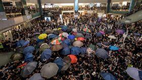 反送中,香港,沙田,新城市廣場。翻攝彭博