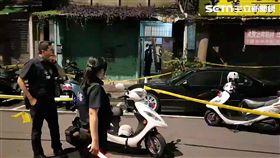 台北市中正二分局泉州所警員逮捕沈姓通緝犯,反遭對方持刀劃傷,只好連開2槍將人制伏(翻攝畫面)