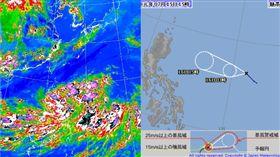 日烈風警報!颱風若近台不排除發海警(圖/氣象局、日本氣象廳)