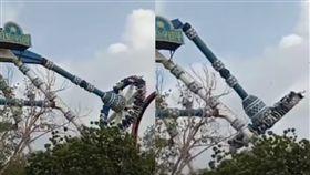 (圖/翻攝自YouTube DeshGujaratHD)印度,遊樂園,斷裂
