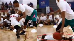NBA/塔圖姆「無情」推倒小孩暴扣 NBA,波士頓塞爾提克,Jayson Tatum,訓練營,推人 翻攝自推特