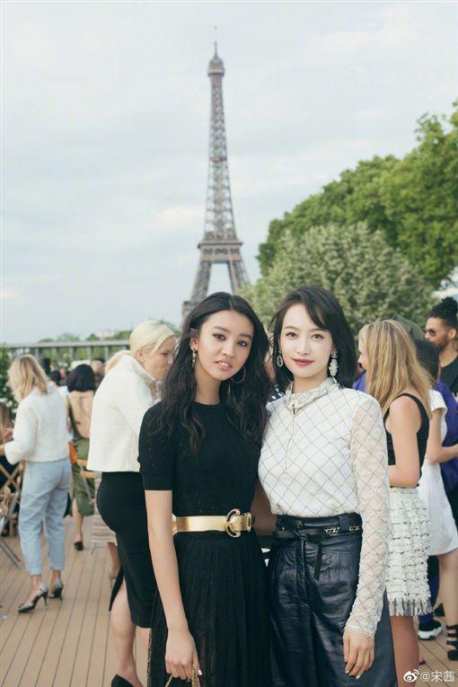 宋茜,木村光希,時裝秀,巴黎/翻攝自宋茜微博