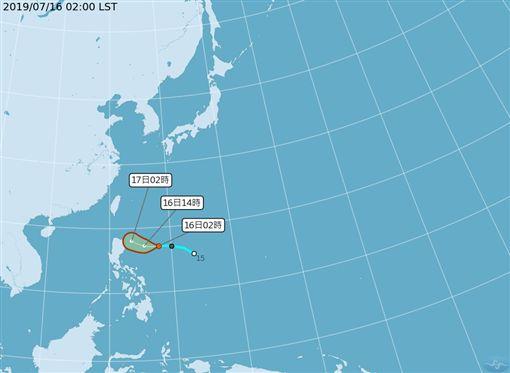 侵台機會大增!準颱丹娜絲恐成「穿心颱」 週四週五全台雨圖翻攝自中央氣象局