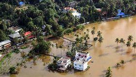 印度,雨季,暴雨,洪水,土石流