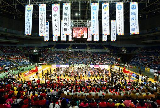 ▲韓國瑜與星雲大師主持佛光盃籃球賽開幕典禮。(圖/高雄市運發局提供)