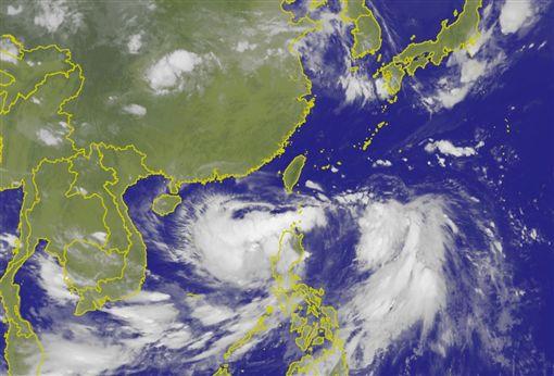 今年第5號颱風「丹娜絲」 圖/中央氣象局