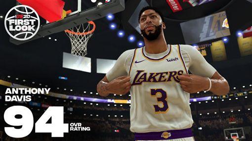 NBA/登2K封面 一眉:夢想成真NBA,Anthony Davis,洛杉磯湖人,2K,LeBron James翻攝自推特