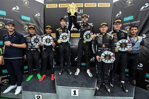 ▲Lamborghini Taipei車手代表陳意凡四度奪下桂冠。(圖/Lamborghini提供)