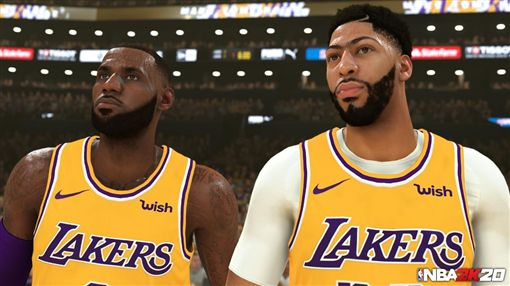 NBA/詹皇跟一眉阿雷嗚!在2K上NBA,洛杉磯湖人,LeBron James,Anthony Davis,2K翻攝自推特