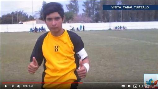▲17歲守門員哥朗奴(Ramon Ismael Coronel)擋下12碼球後猝死。(圖/翻攝自YouTube)