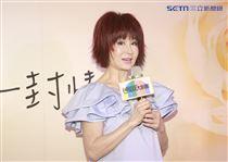 潘迎紫與謝祖武一同演出全新舞台劇《最後一封情書》,圖為潘迎紫。(記者林士傑/攝影)
