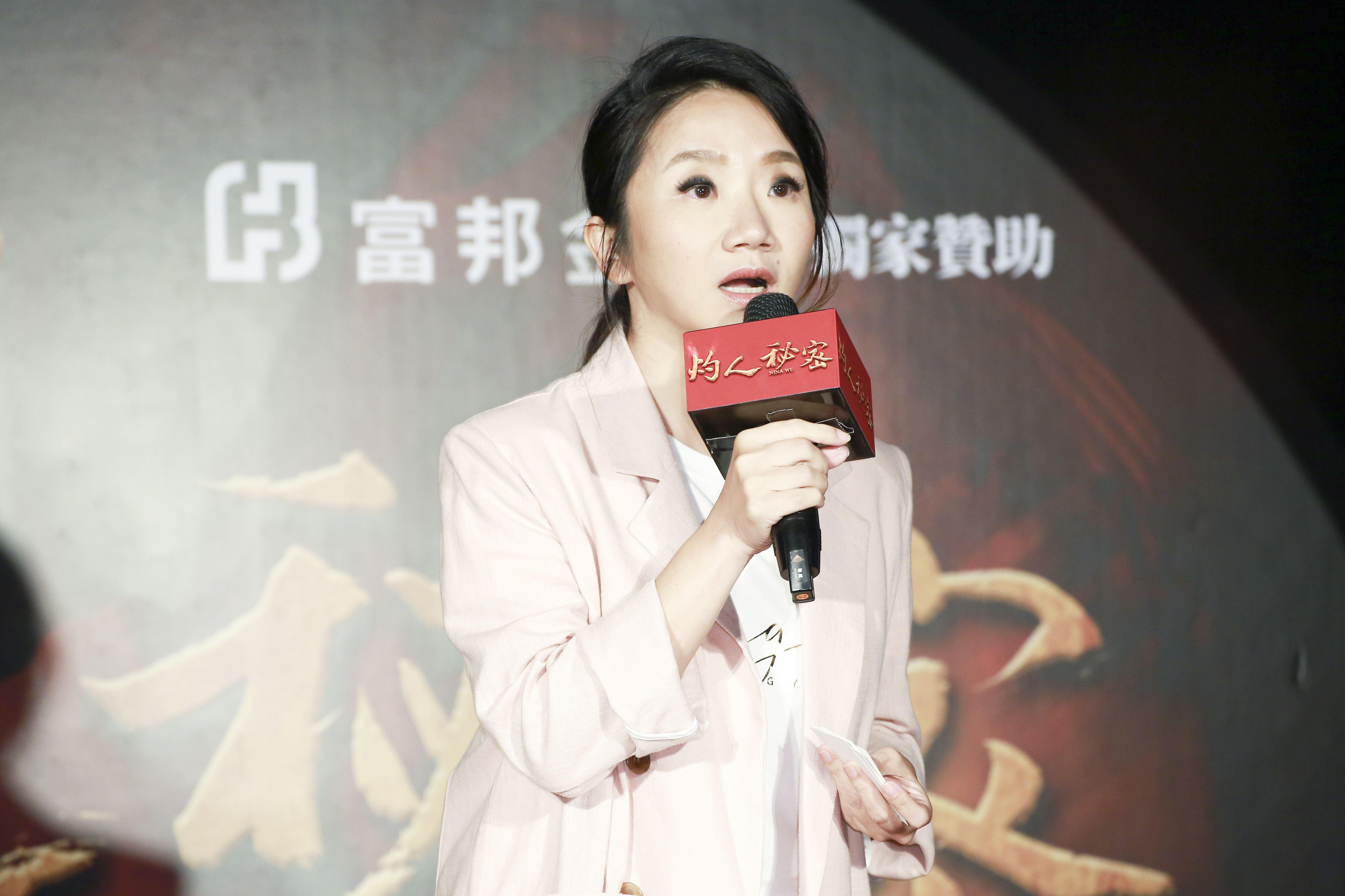 《灼人秘密》首映會,主持人陶晶瑩。(記者林士傑/攝影)
