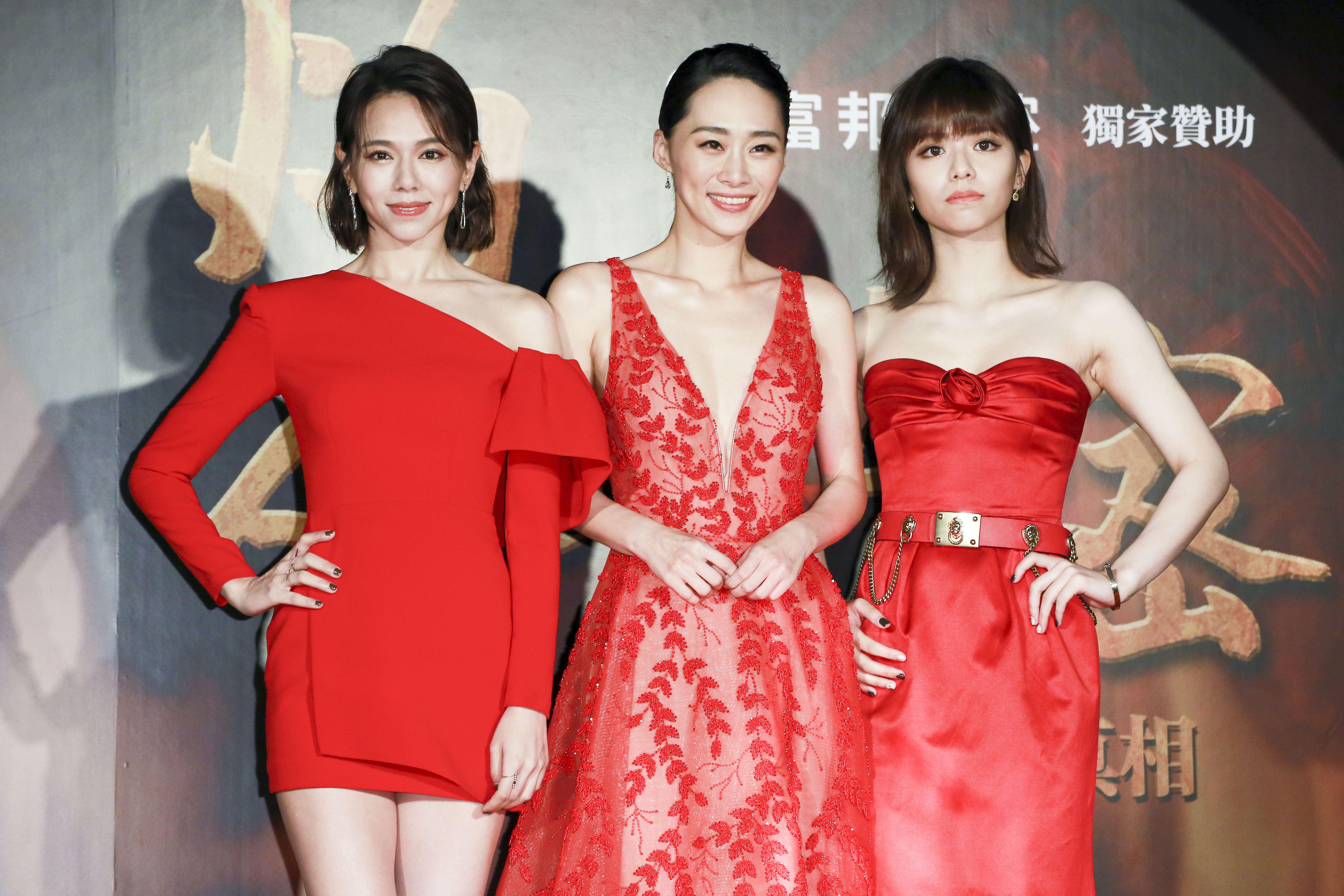 《灼人秘密》首映會,演員夏于喬、吳可熙、宋芸樺。(記者林士傑/攝影)
