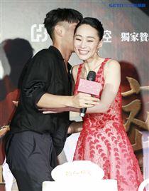 《灼人秘密》首映會,導演趙德胤、演員柯震東、吳可熙。(記者林士傑/攝影)