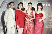 《灼人秘密》首映會,導演趙德胤、演員吳可熙、夏于喬、宋芸樺。(記者林士傑/攝影)