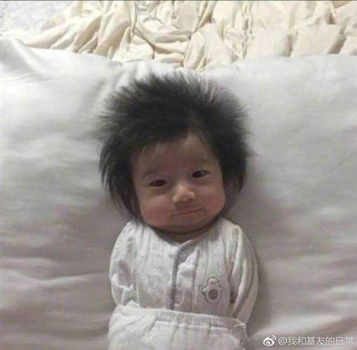 「超級賽亞人」嬰兒(圖/翻攝自●【爆廢公社公開版】●)