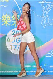 王麗雅為2019雲林海洋音樂祭活動起跑,揪團雲林「FUN一夏」。(記者邱榮吉/攝影)