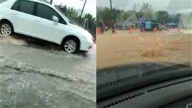 (圖/翻攝自仁武阿鴻臉書)高雄,淹水,豪雨,大雨