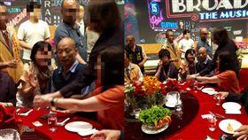 韓國瑜參加高雄市餐飲職業工會的「2019高雄市餐飲廚藝展」 圖翻攝自林后可可園臉書