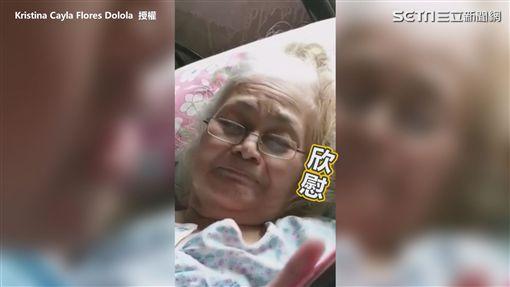 ▲因奶奶長期臥病在床,Kristina都會到床邊唱歌給她聽。(圖/Kristina Cayla Flores Dolola 授權)